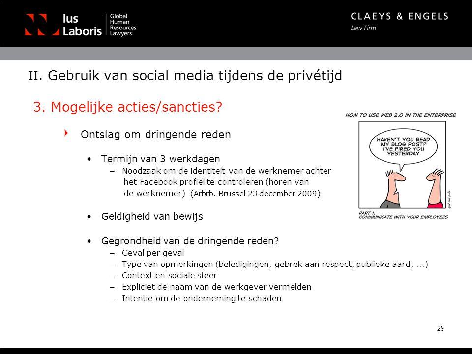 II. Gebruik van social media tijdens de privétijd 3