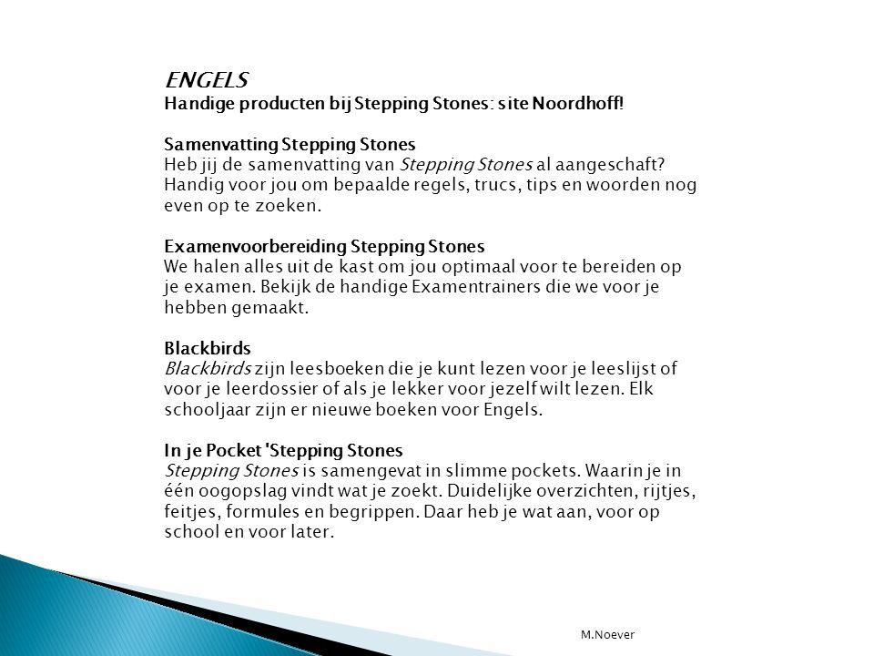 ENGELS Handige producten bij Stepping Stones: site Noordhoff!