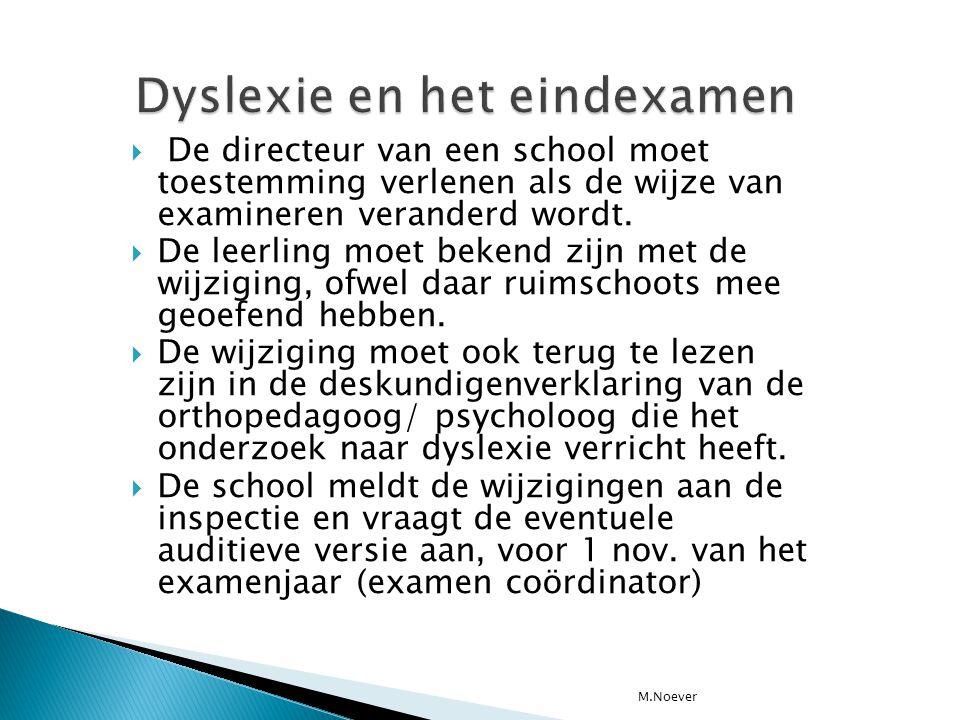 Dyslexie en het eindexamen