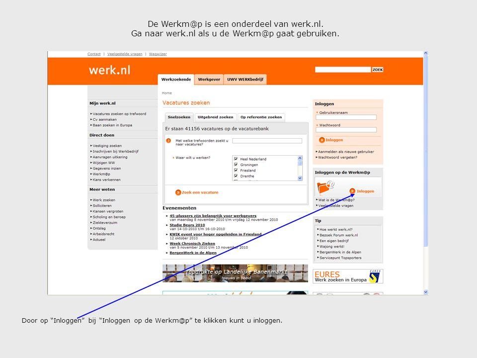De Werkm@p is een onderdeel van werk.nl.