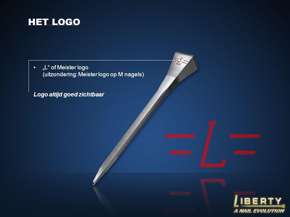 """L of Meister logo (uitzondering: Meister logo op M nagels)"