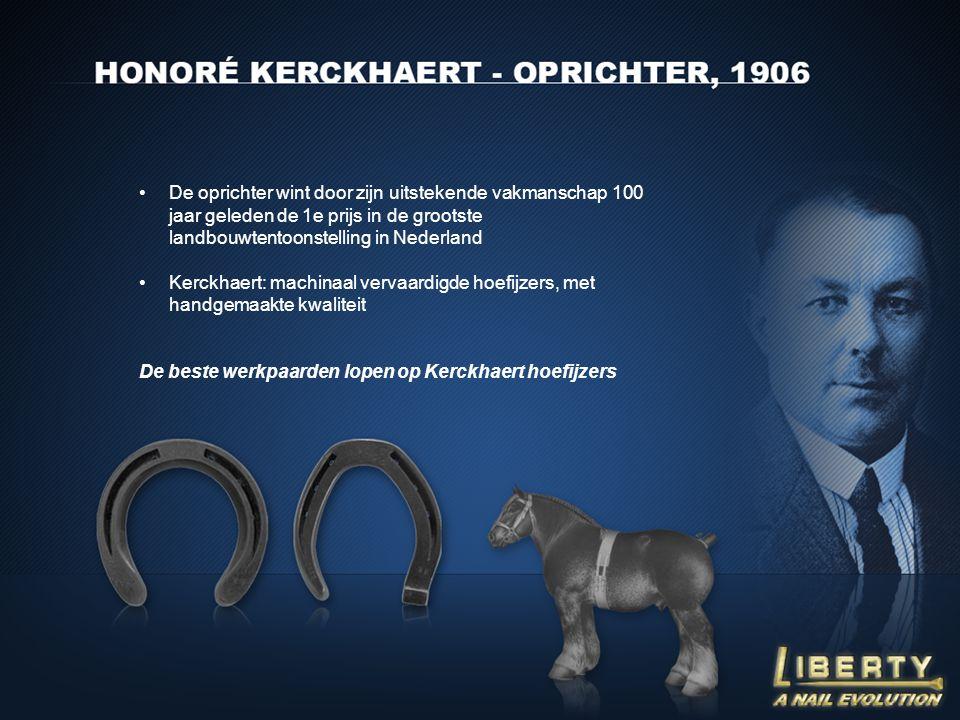 De oprichter wint door zijn uitstekende vakmanschap 100 jaar geleden de 1e prijs in de grootste landbouwtentoonstelling in Nederland