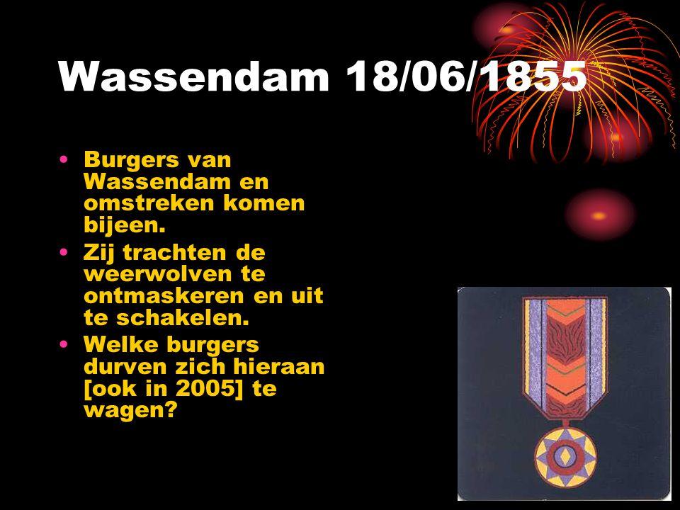 Wassendam 18/06/1855 Burgers van Wassendam en omstreken komen bijeen.