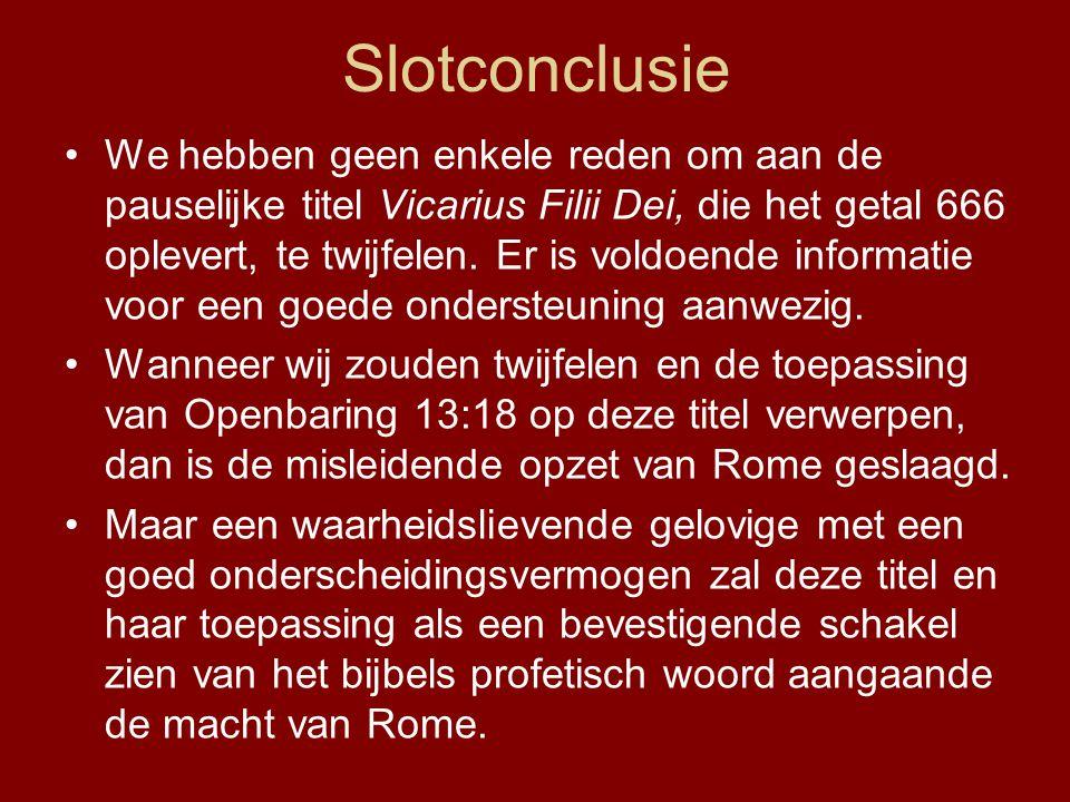Slotconclusie
