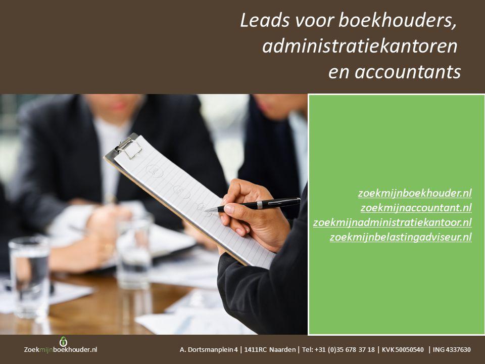 Leads voor boekhouders, administratiekantoren en accountants
