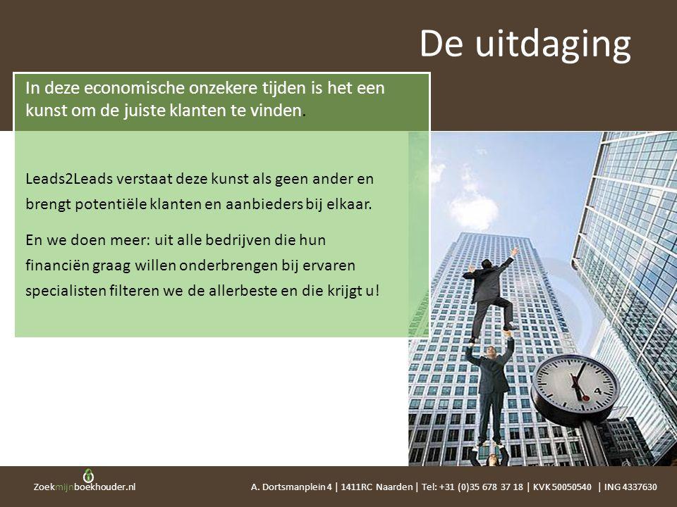 De uitdaging In deze economische onzekere tijden is het een kunst om de juiste klanten te vinden.