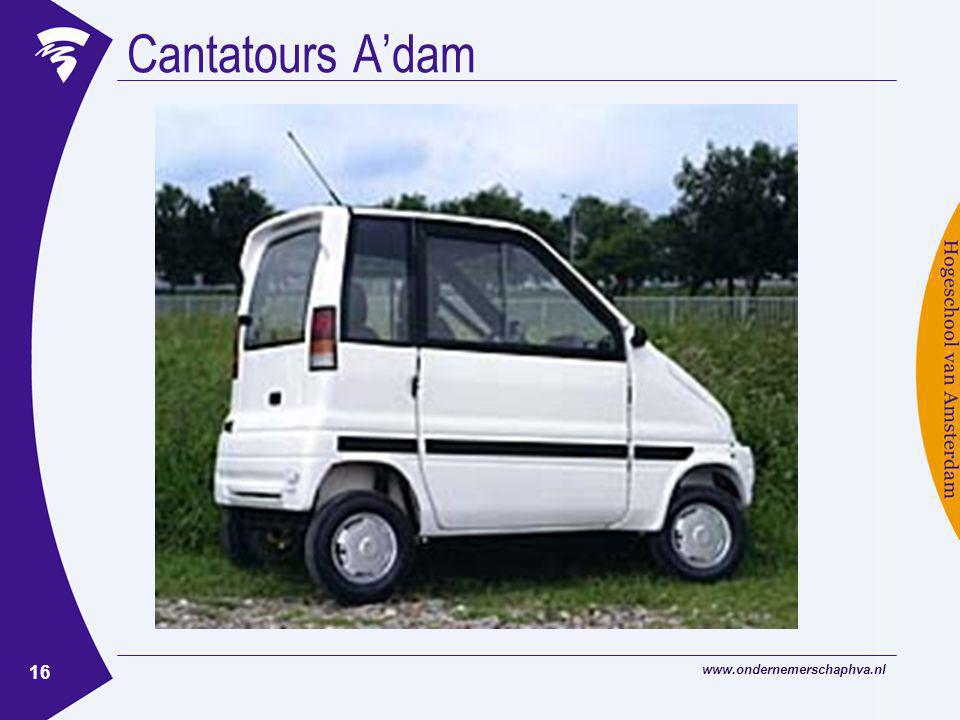 Cantatours A'dam www.ondernemerschaphva.nl
