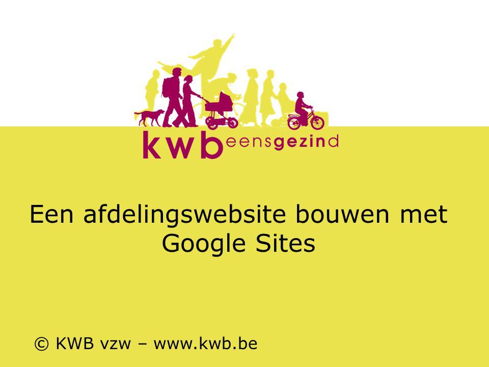 Een afdelingswebsite bouwen met Google Sites