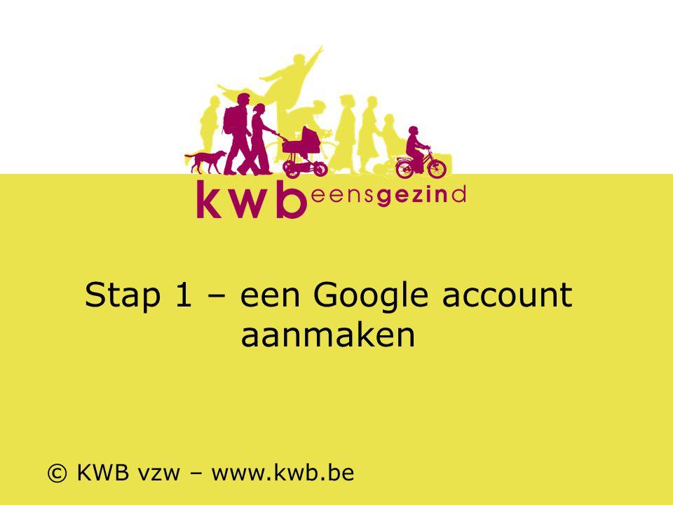 Stap 1 – een Google account aanmaken