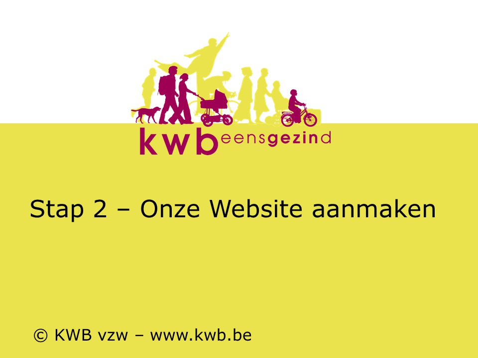 Stap 2 – Onze Website aanmaken