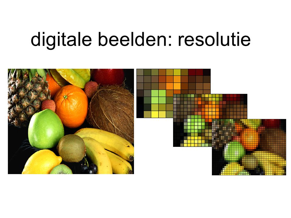 digitale beelden: resolutie