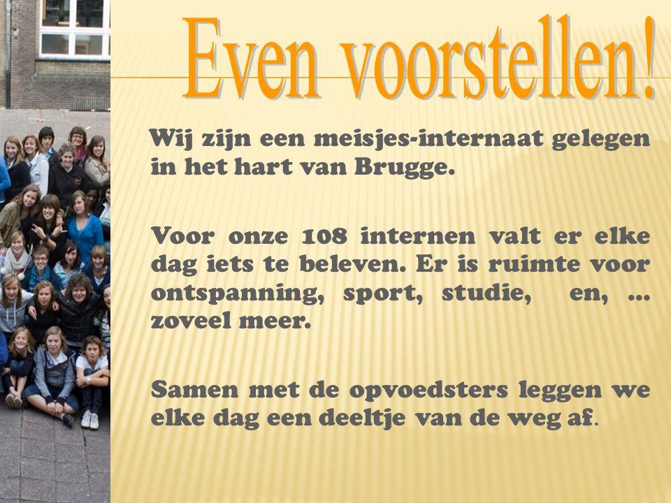 Even voorstellen! Wij zijn een meisjes-internaat gelegen in het hart van Brugge.
