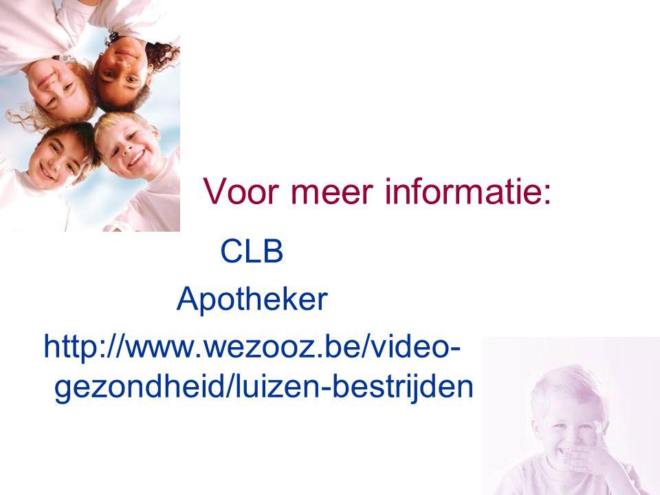 Voor meer informatie: CLB Apotheker