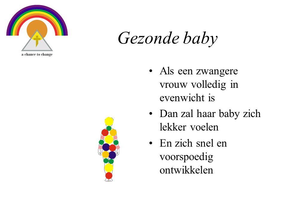 Gezonde baby Als een zwangere vrouw volledig in evenwicht is