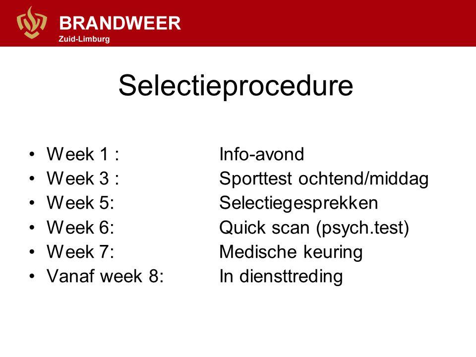 Selectieprocedure Week 1 : Info-avond