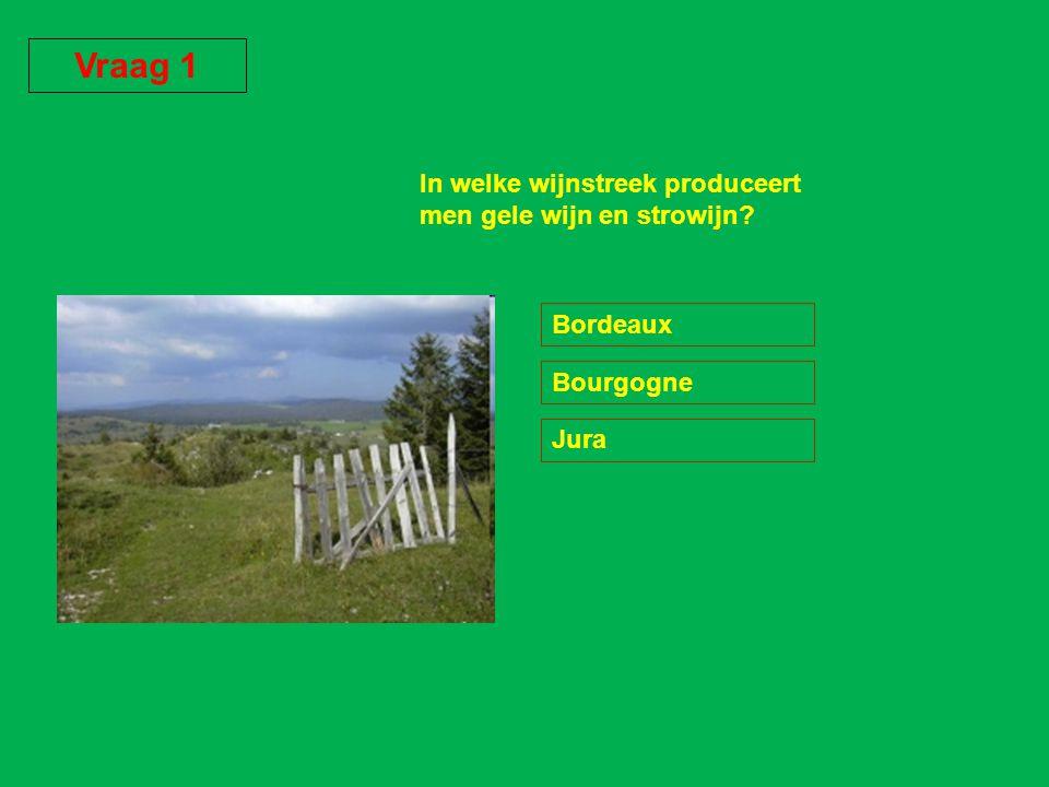 Vraag 1 In welke wijnstreek produceert men gele wijn en strowijn