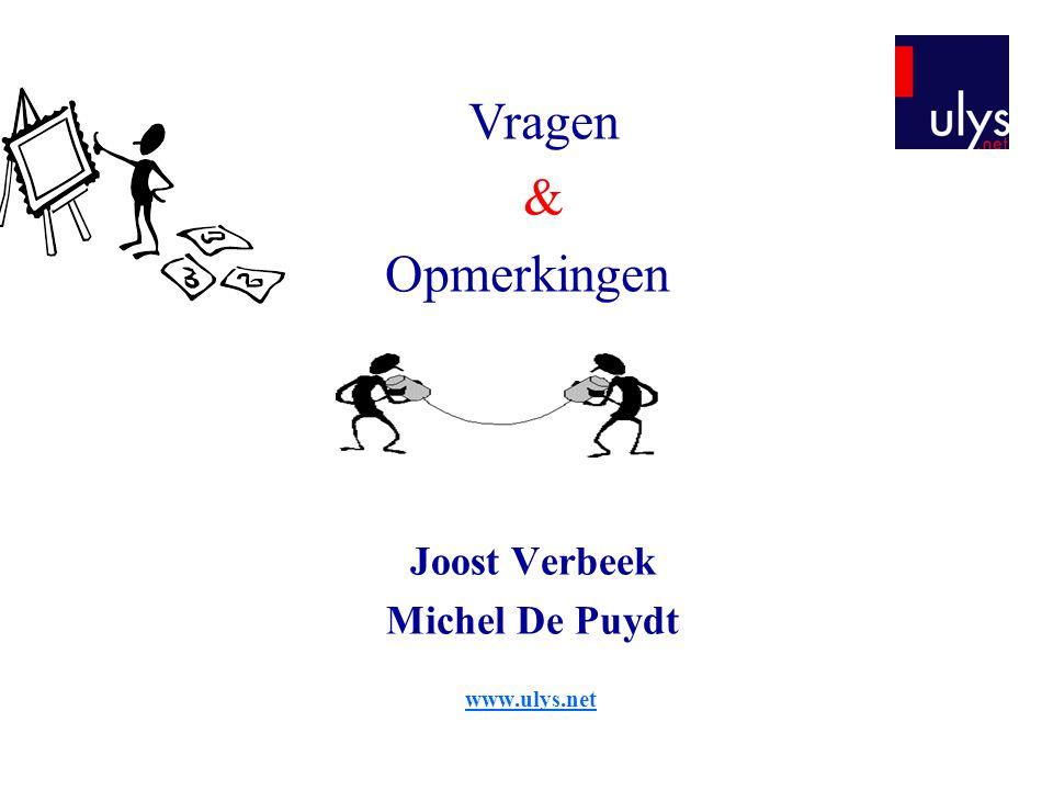 Joost Verbeek Michel De Puydt www.ulys.net