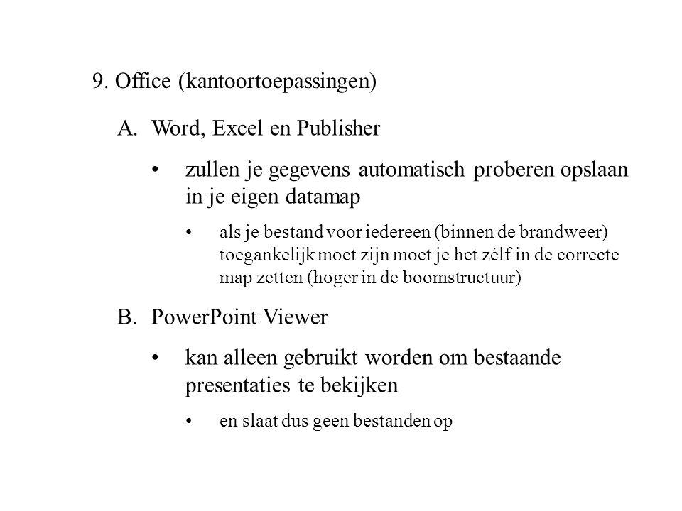 9. Office (kantoortoepassingen)