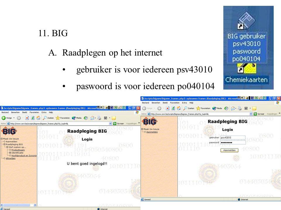 11. BIG A. Raadplegen op het internet. gebruiker is voor iedereen psv43010.