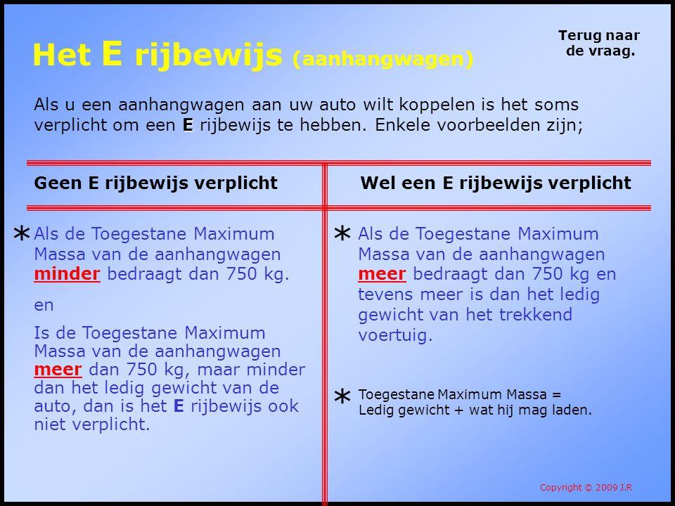 Het E rijbewijs (aanhangwagen)
