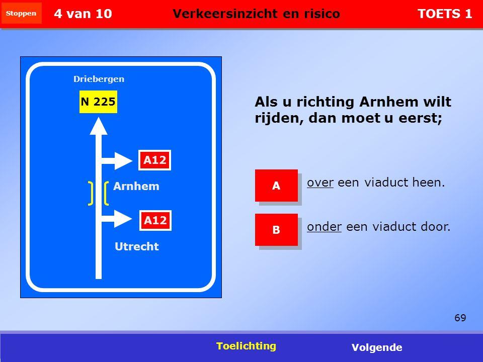 4 van 10 Verkeersinzicht en risico TOETS 1