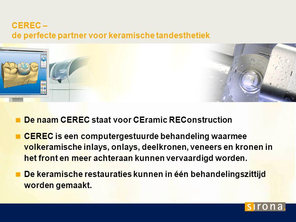 CEREC – de perfecte partner voor keramische tandesthetiek