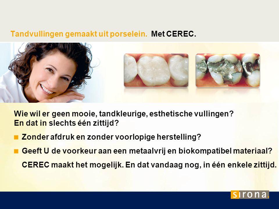 Tandvullingen gemaakt uit porselein. Met CEREC.