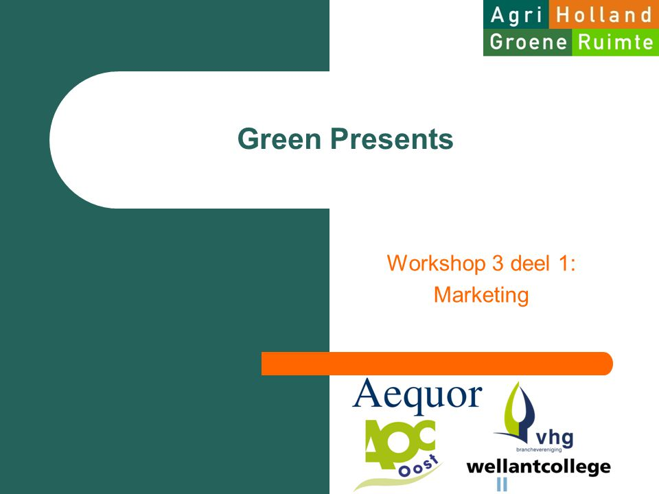 Workshop 3 deel 1: Marketing