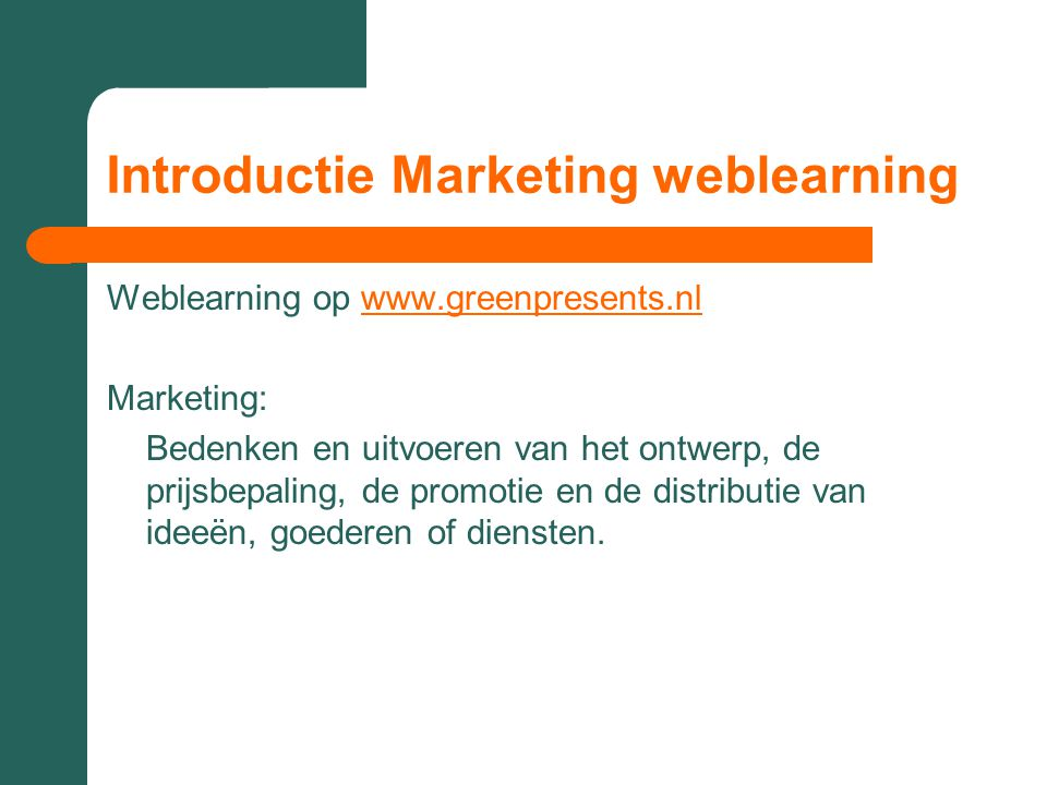 Introductie Marketing weblearning