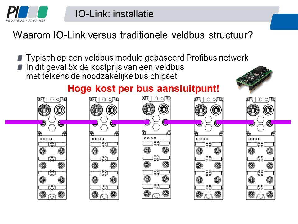 Waarom IO-Link versus traditionele veldbus structuur