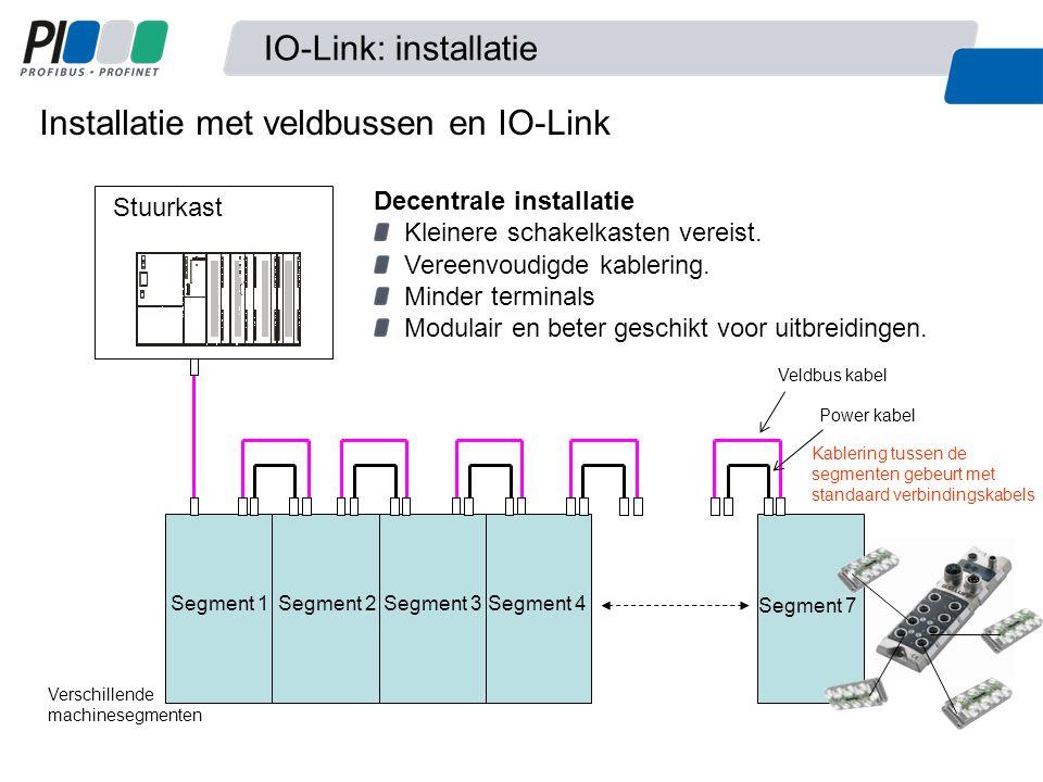 Installatie met veldbussen en IO-Link