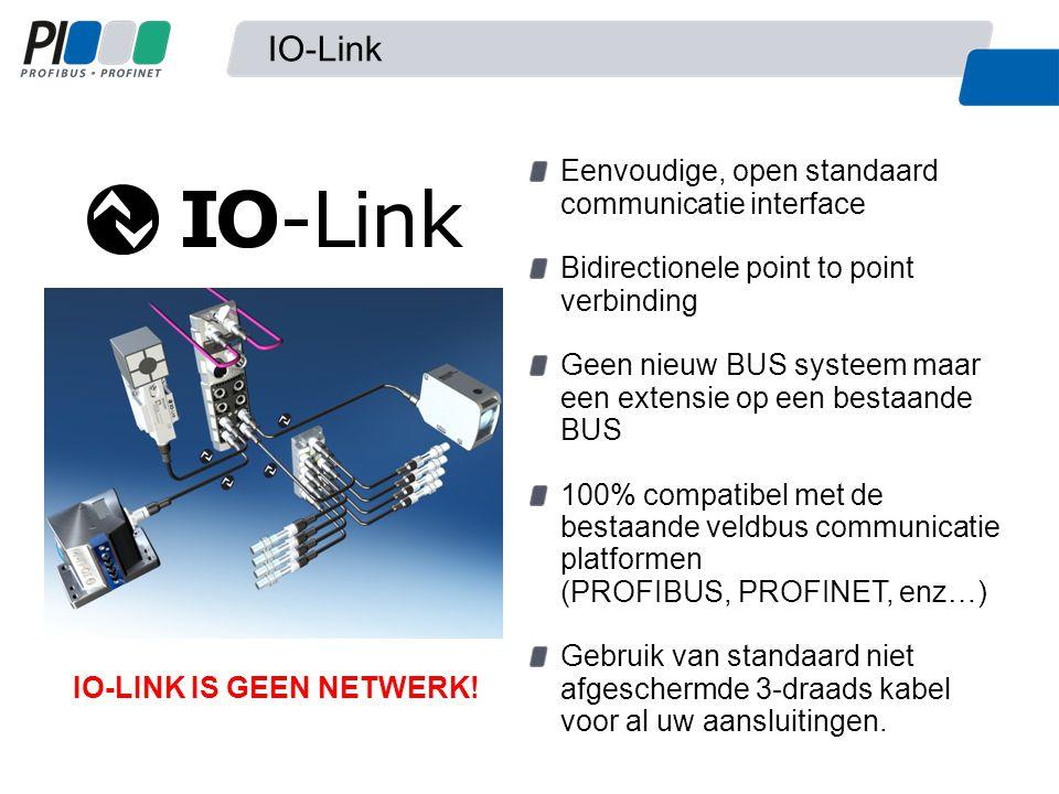 IO-Link Eenvoudige, open standaard communicatie interface