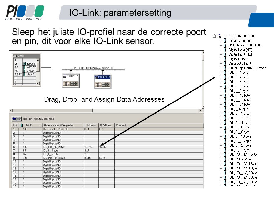 IO-Link: parametersetting