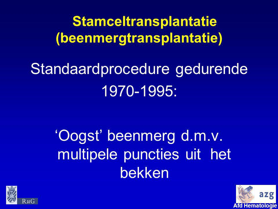 Stamceltransplantatie (beenmergtransplantatie)