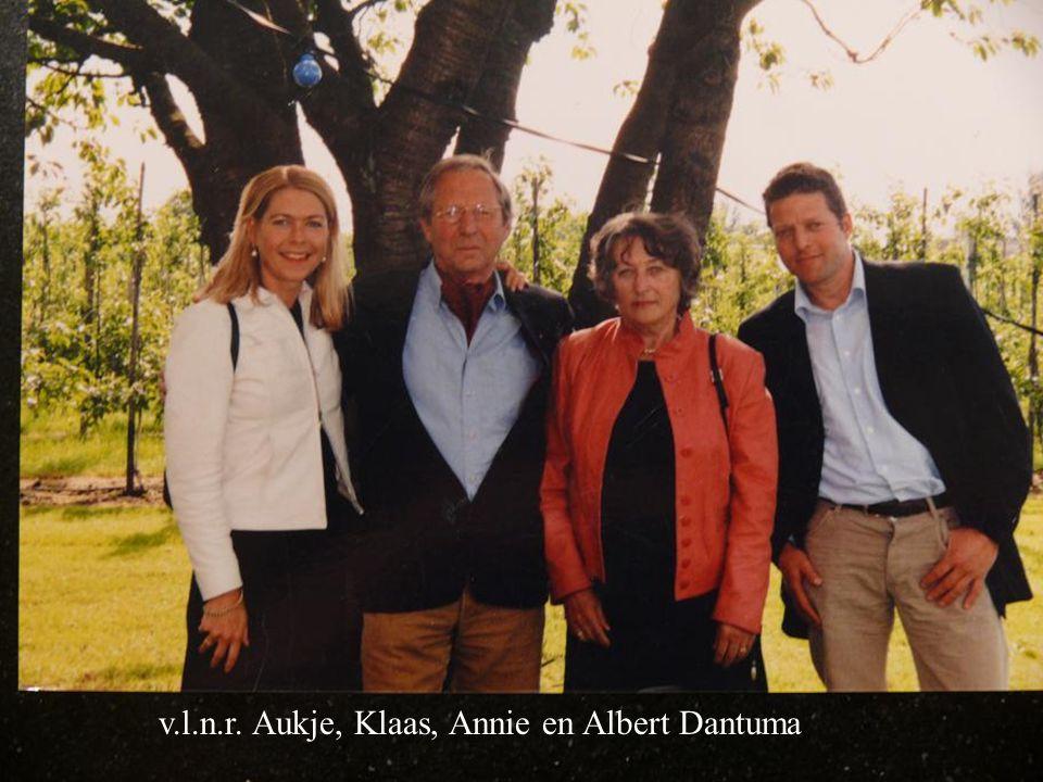 v.l.n.r. Aukje, Klaas, Annie en Albert Dantuma