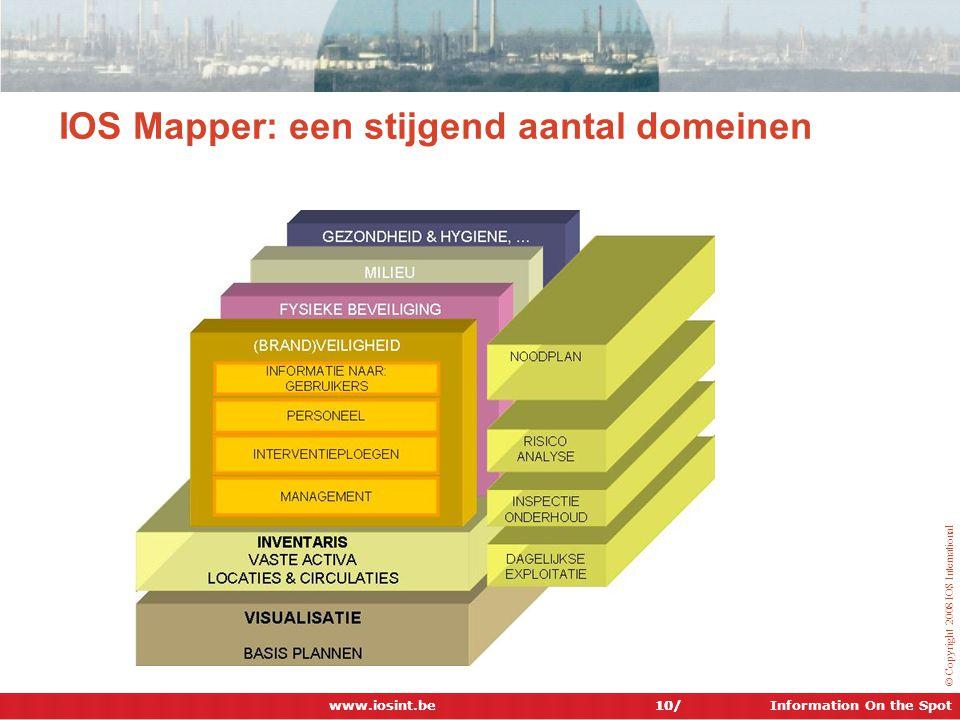 IOS Mapper: een stijgend aantal domeinen