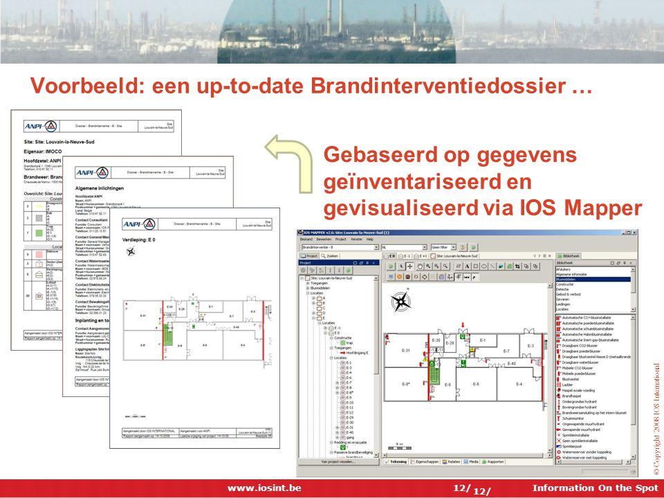 Voorbeeld: een up-to-date Brandinterventiedossier …