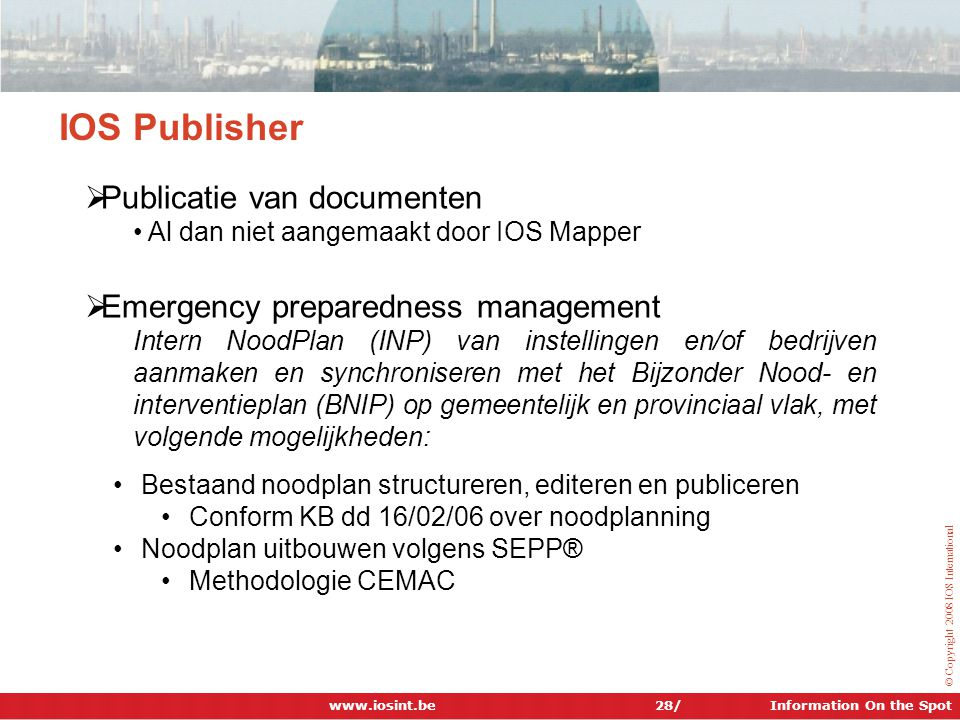 IOS Publisher Publicatie van documenten