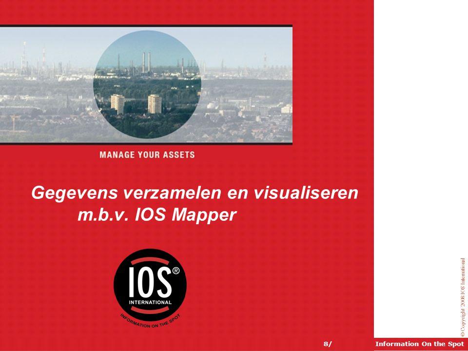 Gegevens verzamelen en visualiseren m.b.v. IOS Mapper