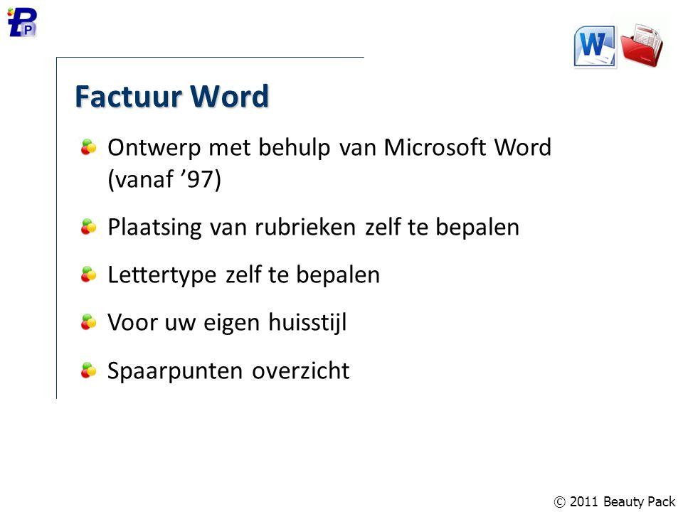Factuur Word Ontwerp met behulp van Microsoft Word (vanaf '97)
