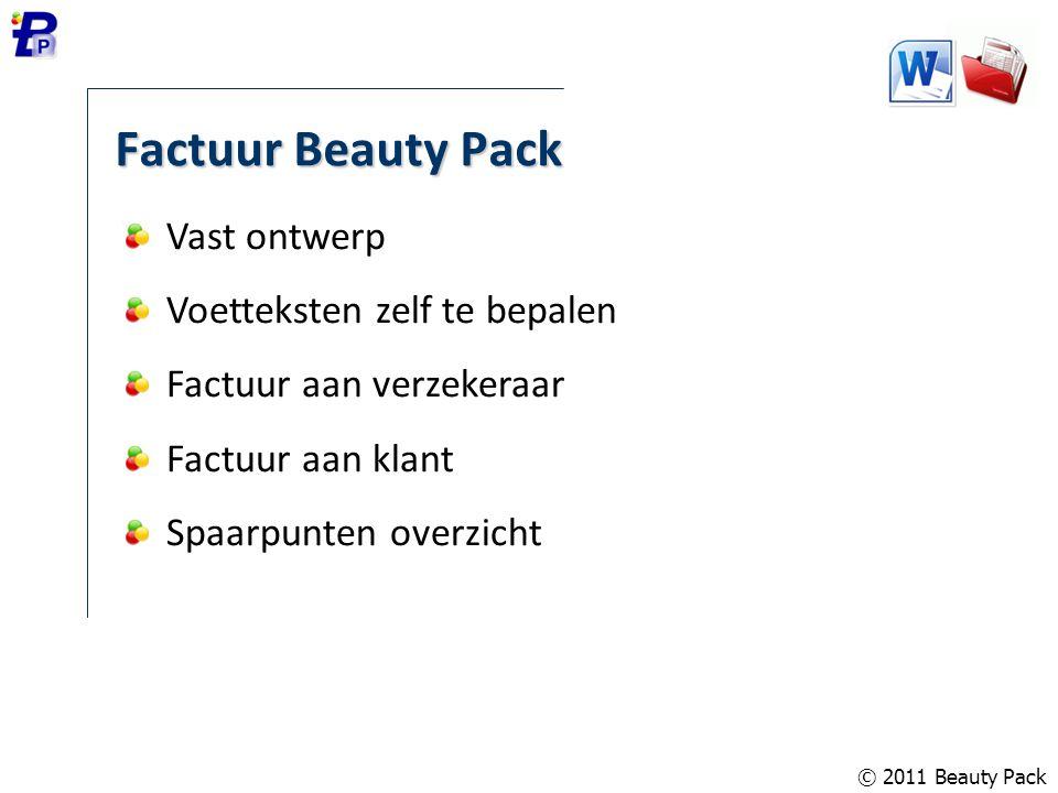 Factuur Beauty Pack Vast ontwerp Voetteksten zelf te bepalen
