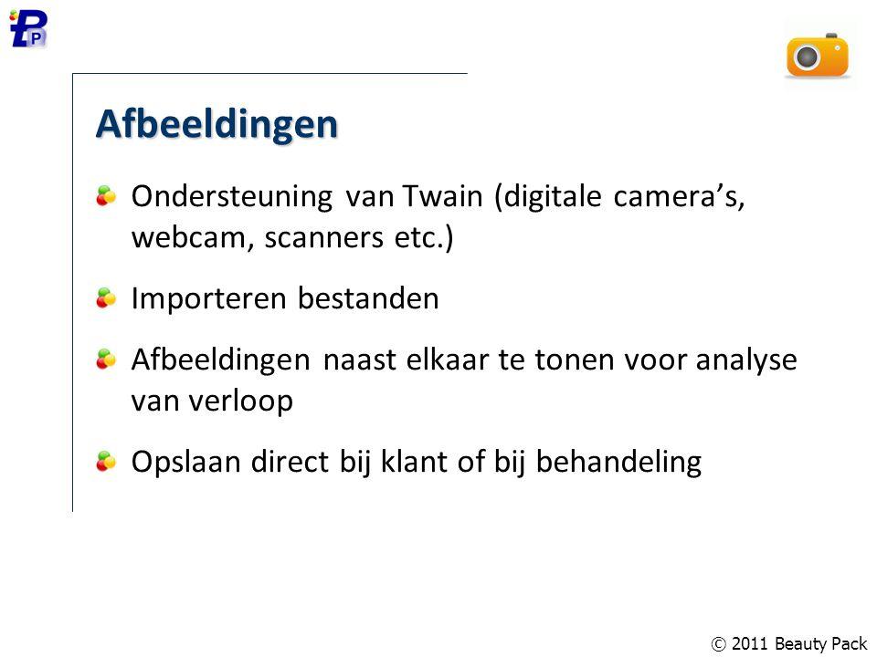 Afbeeldingen Ondersteuning van Twain (digitale camera's, webcam, scanners etc.) Importeren bestanden.