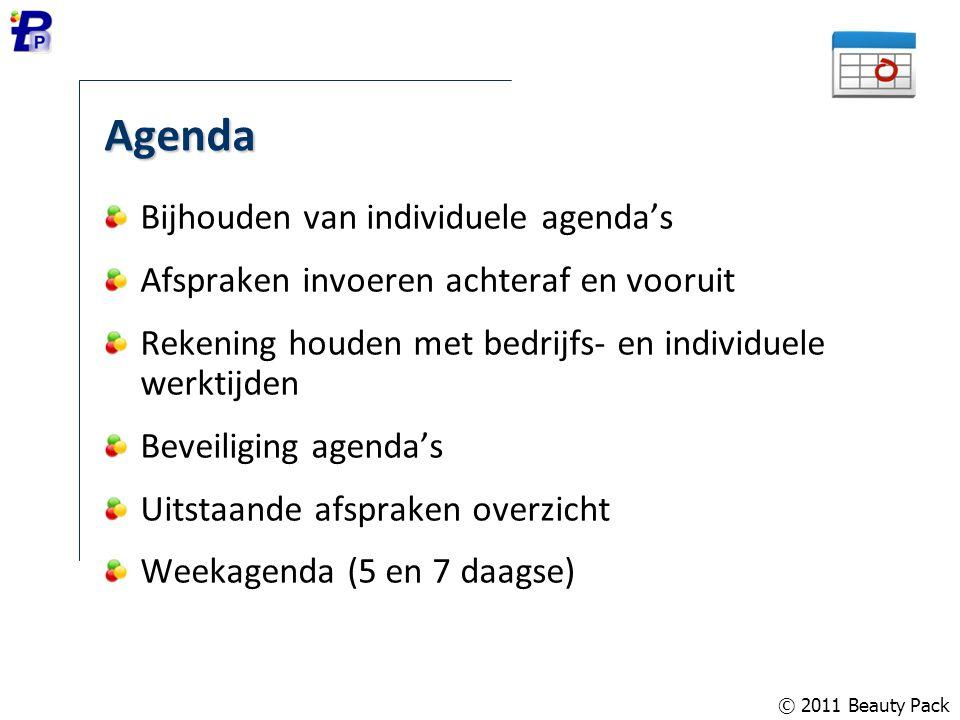 Agenda Bijhouden van individuele agenda's