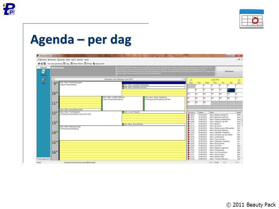 Agenda – per dag