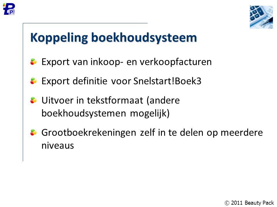 Koppeling boekhoudsysteem