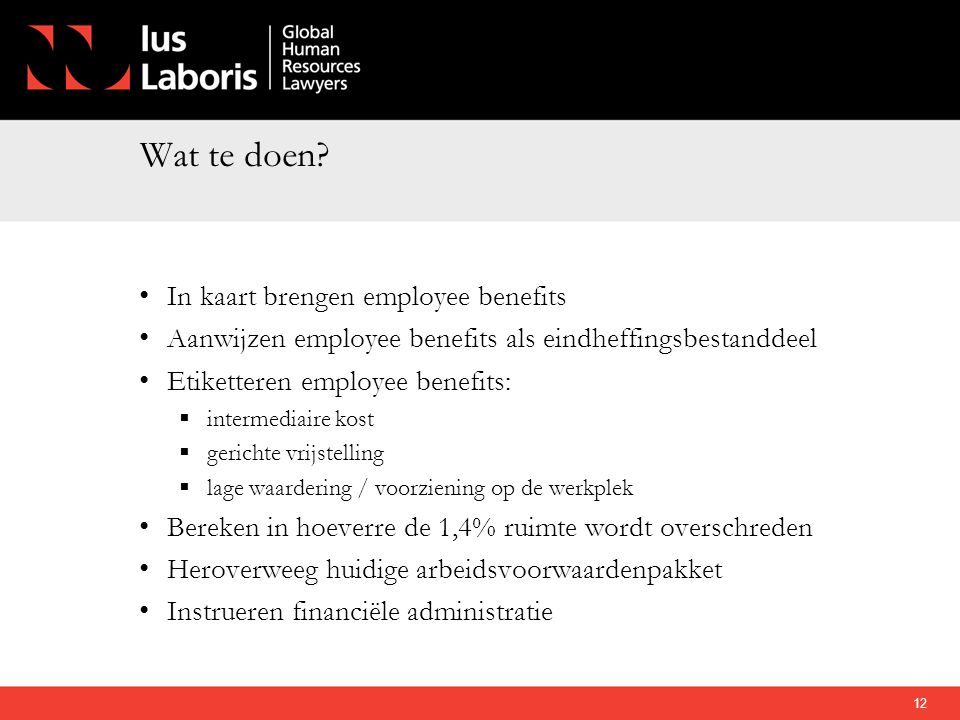 Wat te doen In kaart brengen employee benefits