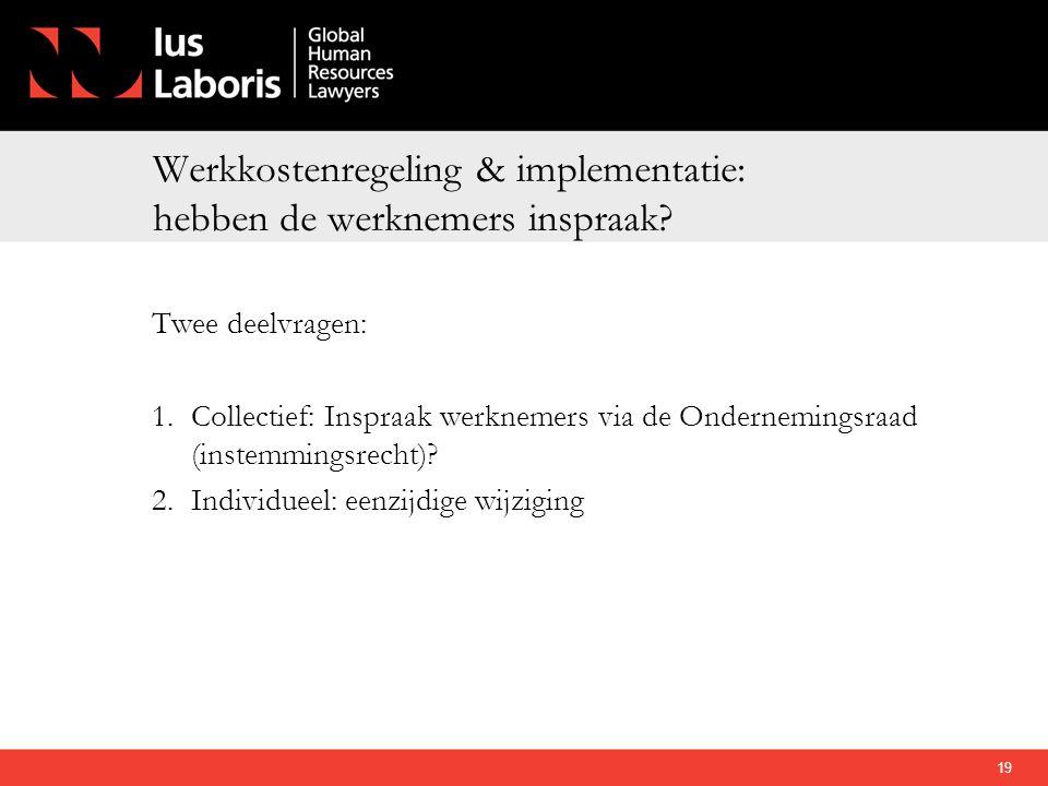 Werkkostenregeling & implementatie: hebben de werknemers inspraak