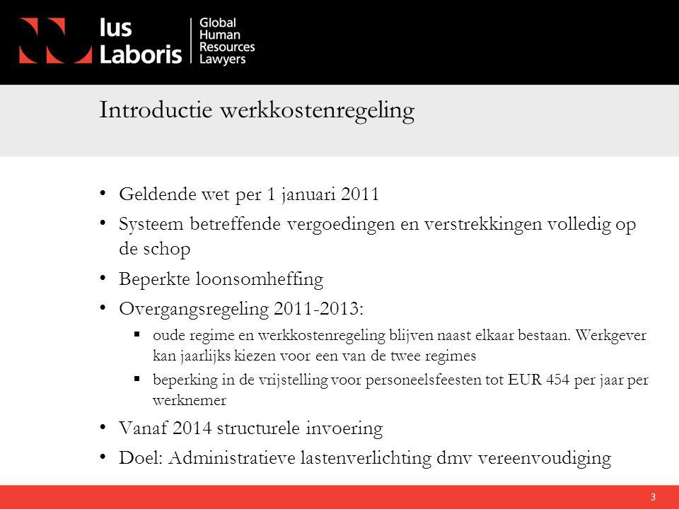 Introductie werkkostenregeling