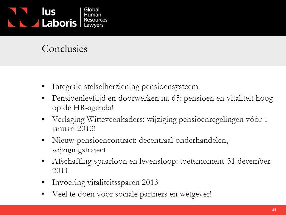 Conclusies Integrale stelselherziening pensioensysteem