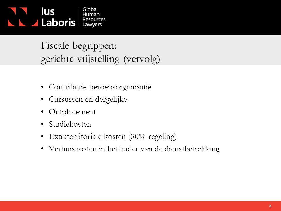 Fiscale begrippen: gerichte vrijstelling (vervolg)